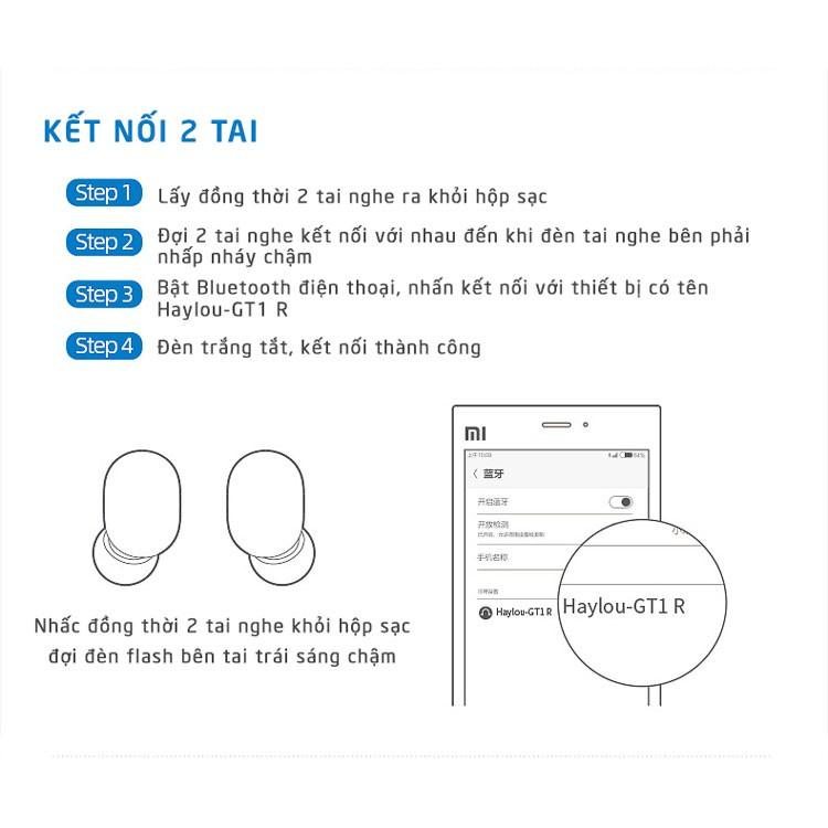 Tai Nghe Bluetooth True Wireless Haylou GT1 V5.0 Chống Nước Giảm Tiếng Ồn