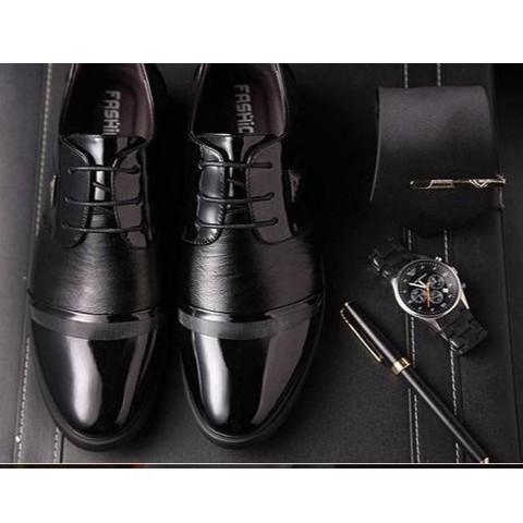 Giày tây da nam đế cao TRT-GTN-01-DE (màu đen)
