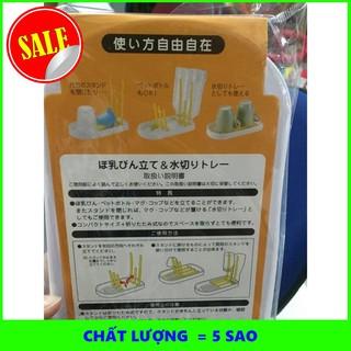 [SHIP NHANH] Giá úp bình sữa 6 thanh xuất Nhật 6705