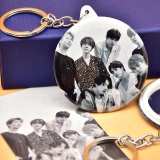 BTS Calendar Classic Black White V JIMIN SUGA Mirror Keychain Accessories