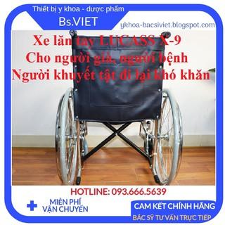 Xe lăn tay LUCASS X-9 (Tiêu chuẩn)- Xe lăn tay dùng cho người già, người bị bệnh, người khuyết tật đi lại khó khăn thumbnail