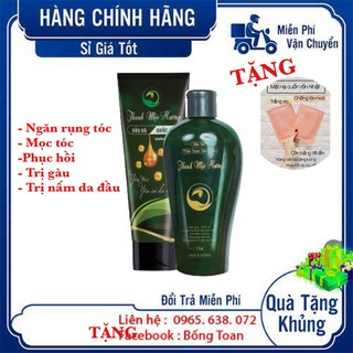 [CHÍNH HÃNG ] Bộ Dầu Gội – Xả Thảo Dược Ngăn Rụng Tóc Thanh Mộc Hương 350 ml