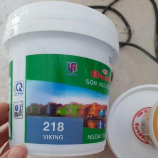 Sơn nước màu ngoại thất Beauty màu xanh đá hộp 1l, 1.4kg