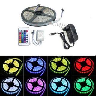 Bộ đèn LED dây dán 5m 5050RGB phủ keo silicon đổi 7 màu V-L-D-RGB (RGB)+Nguồn+Khiển