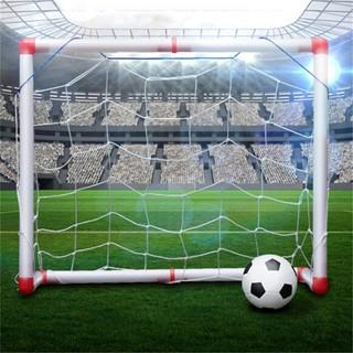 $VN Indoor Folding Football Soccer Ball Goal Post Net Set Kids Sport Outdoor Toys