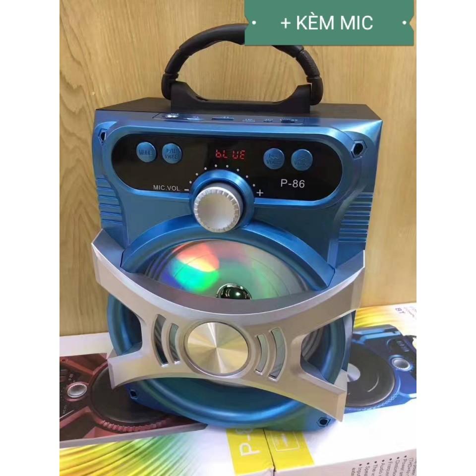 [Tặng Micro] Loa Karaoke Bluetooth P87 - BH 6 tháng