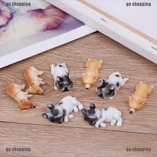 go shopping 2pcs french bulldog sleepy dog kids toy action figure model toy landscape decor thumbnail