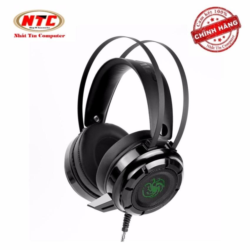 Tai nghe chụp tai chuyên game NTC N62 có Rung và Led (Đen)