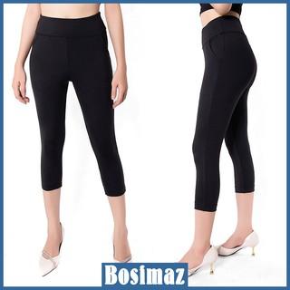Quần Legging Nữ Bosimaz MS361 lửng túi trước màu đen cao cấp, thun co giãn 4 chiều, vải đẹp dày, thoáng mát. thumbnail