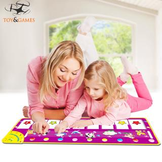 Environmentally Protective Children Multi-function Music Game Carpet Toys Educational Flash Animal