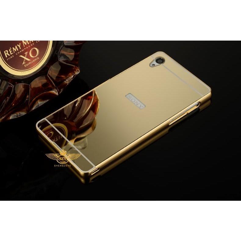 Ốp lưng Sony Xperia Z3 gương nguyên khối vàng