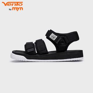 Giày Sandal Vento Nam Nữ MS 9801 - Đen Trắng