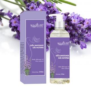 Dầu massage body oải hương (lavender) hương thơm thư giãn, giảm đau mỏi 200ml - Tinh Dầu 100 thumbnail