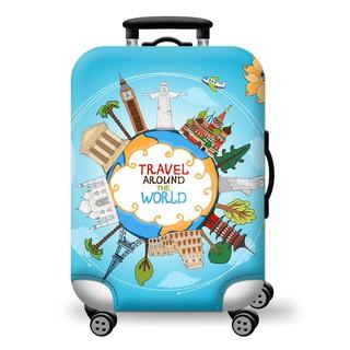 Túi bọc vali co giãn cao cấp Travel Around The World [ Hàng có sẵn ] thumbnail
