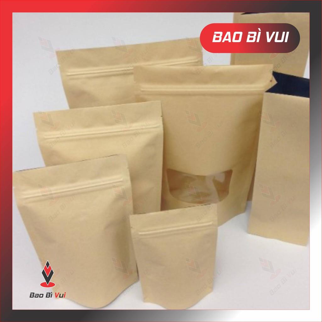 [1kg] túi zip giấy đáy đứng