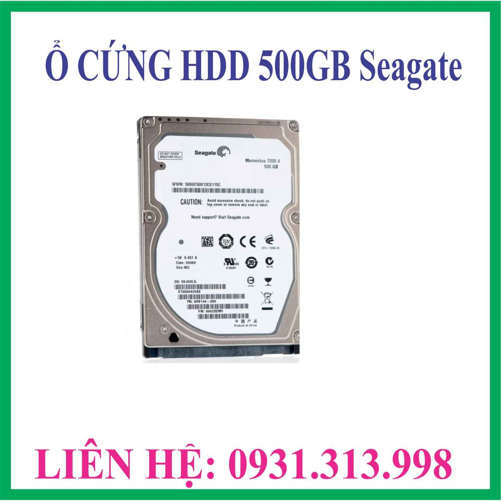 Ổ CỨNG HDD 500GB SEAGATE