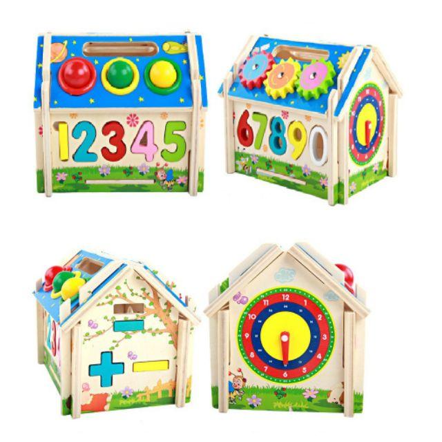 Đồ chơi gỗ ngôi nhà thả hình