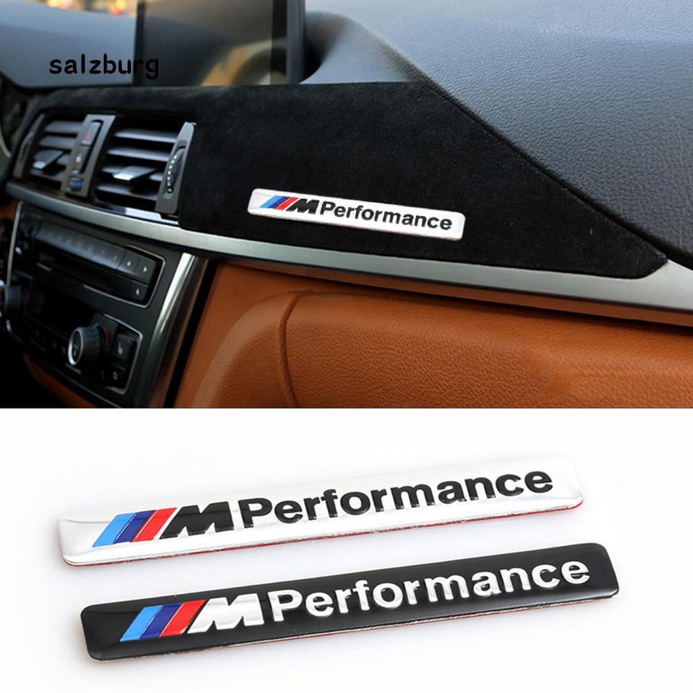 Logo kim loại chữ fhue _ m dán trang trí xe ô tô BMW