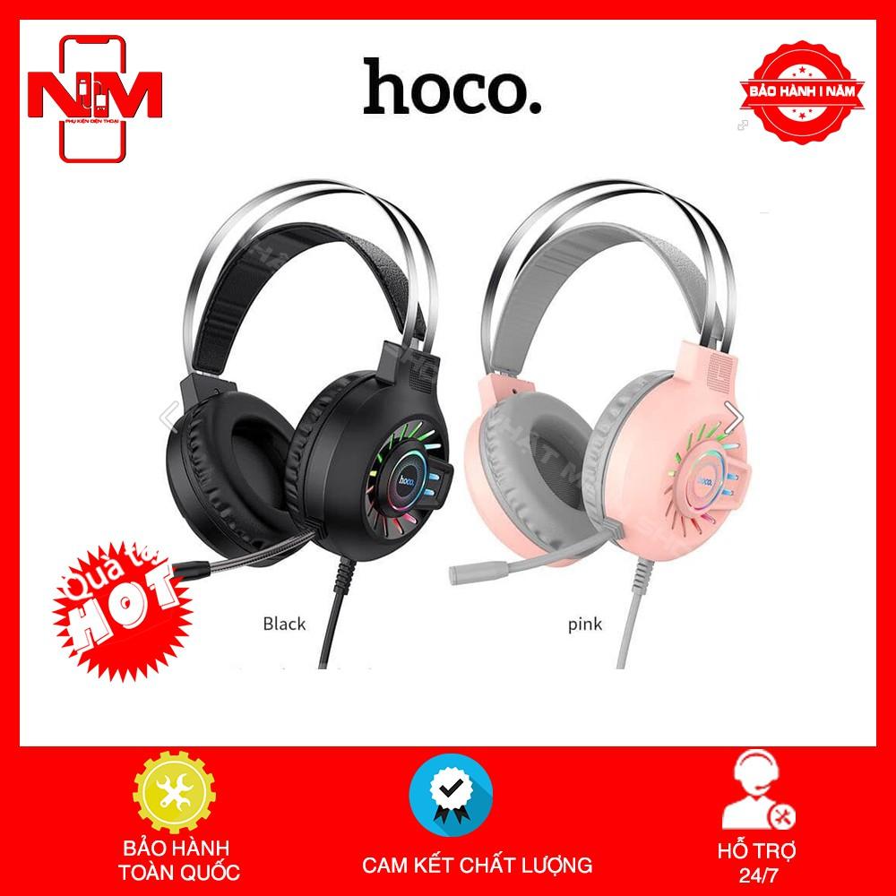 ✅CHÍNH HÃNG✅Tai nghe Gaming Hoco ESD04 có mic đàm thoại.Head phone chụp tai Bluetooth cho Game thủ-bass mạnh-pin khủng