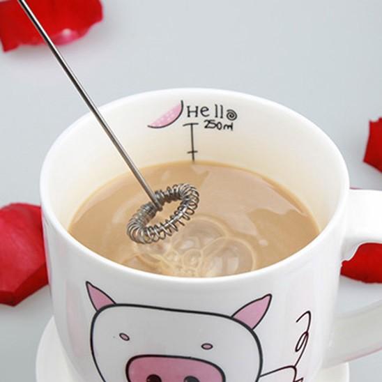 Máy Đánh Trứng, Đánh Sữa Và Tạo Bọt Cafe Cầm Tay Chạy Bằng Pin