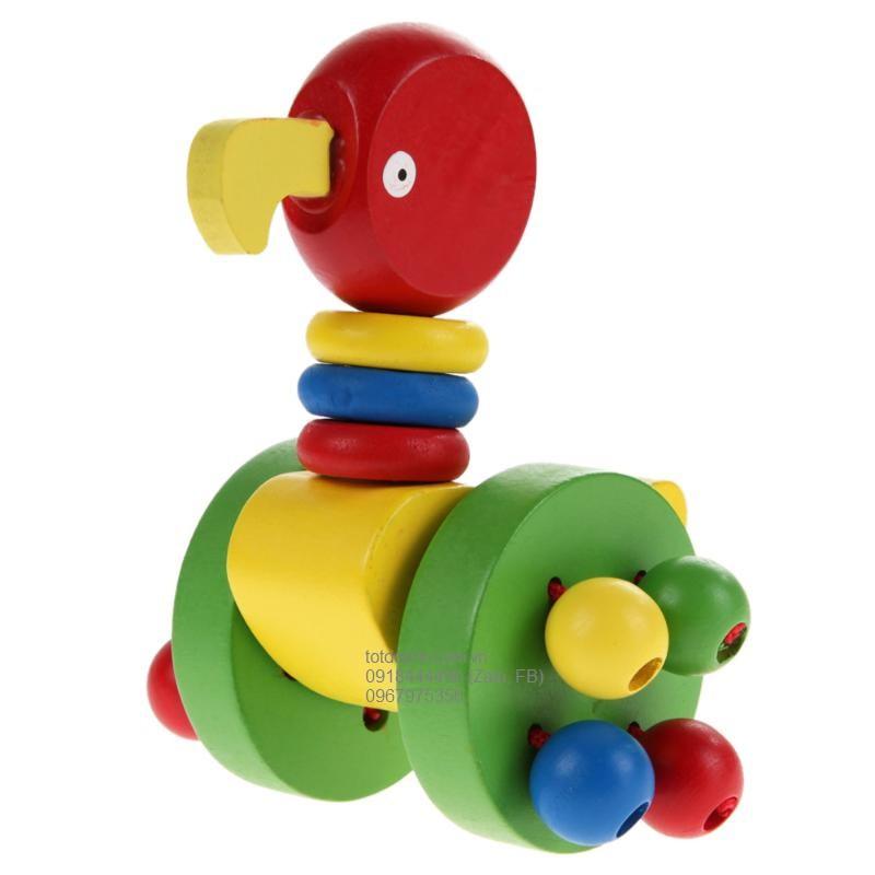 Xe đẩy hình con vật bằng gỗ cho bé tập đi