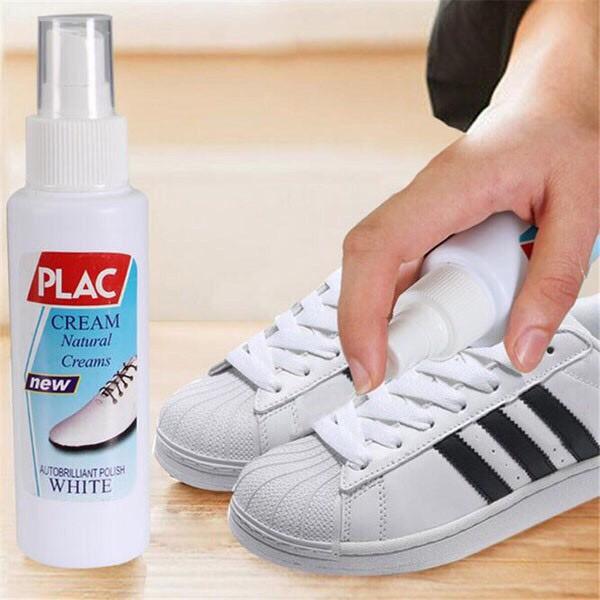 Chai xịt trắng giày dép túi xách