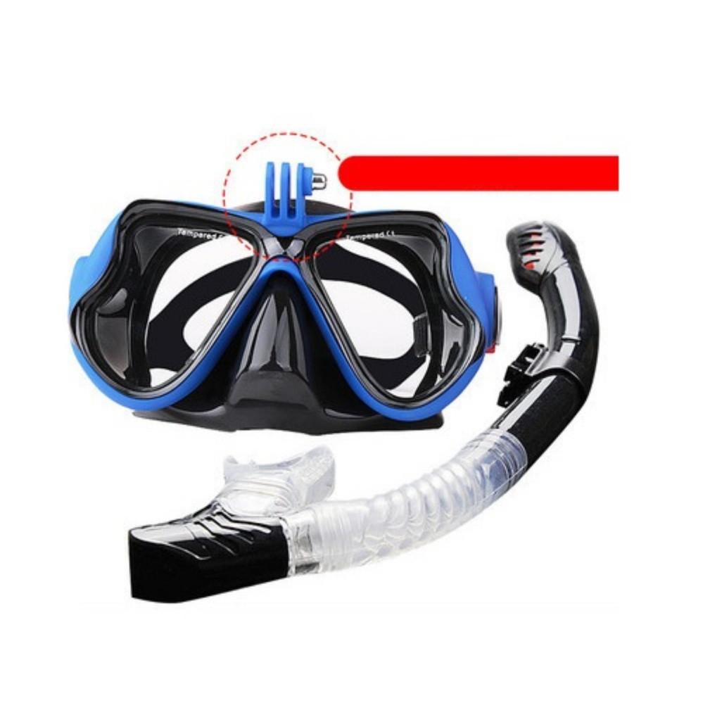 Bộ kính lặn GOPRO, Ống thở ngăn nước, MẮT KÍNH CƯỜNG LỰC, gắn được GOPRO, SJCAM POPO Collection (Xa