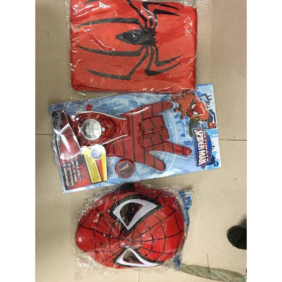 [SIÊU KHUYẾN MÃI] Bộ đồ chơi hóa trang nhân vật người nhện Spider-man cho bé trai từ 3 đến 8 tuổi nhiều chi tiết