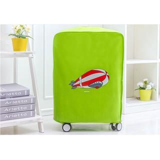 Áo trùm bảo vệ vali chống bụi chống trầy xinh xắn 28 inch xanh chuối thumbnail