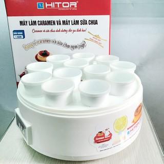 Máy làm sữa chua và Caramen Hitops 12 cốc sứ 2in1