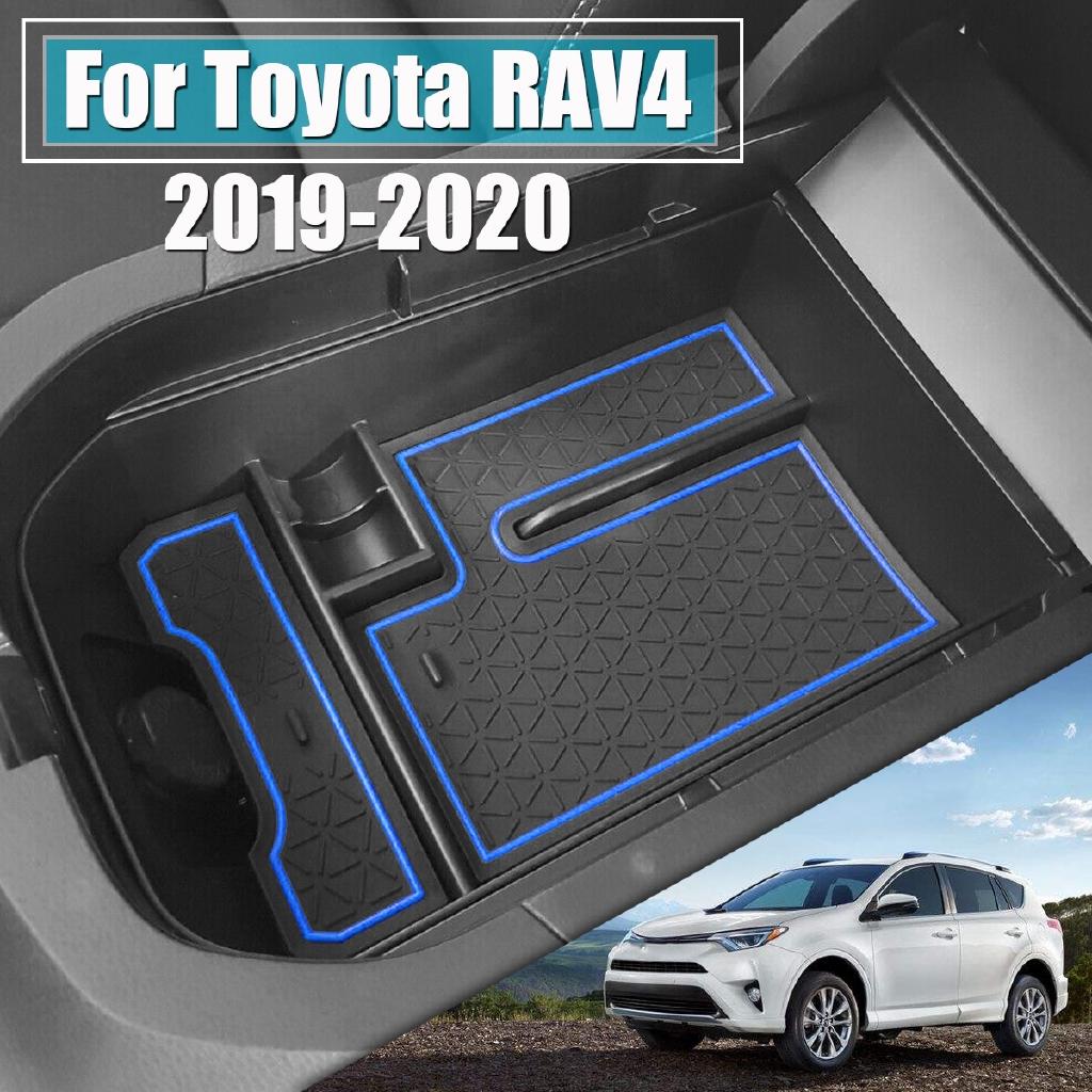 Car Center Console Armrest Storage Box Organizer Tray For Toyota RAV4 2019 2020