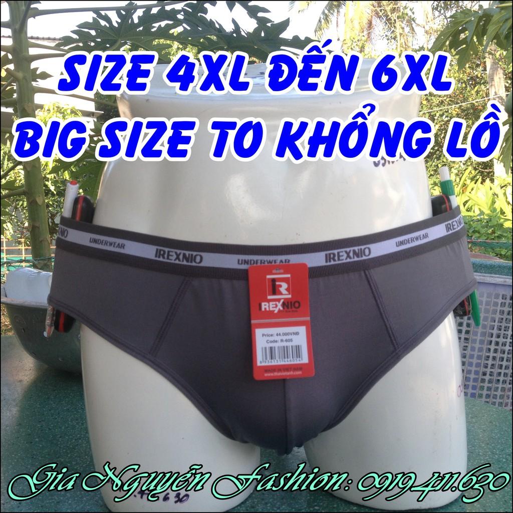 4 Quần BIGSIZE - Size lớn (4XL đến 6XL), Quần lót nam dành riêng cho người mập