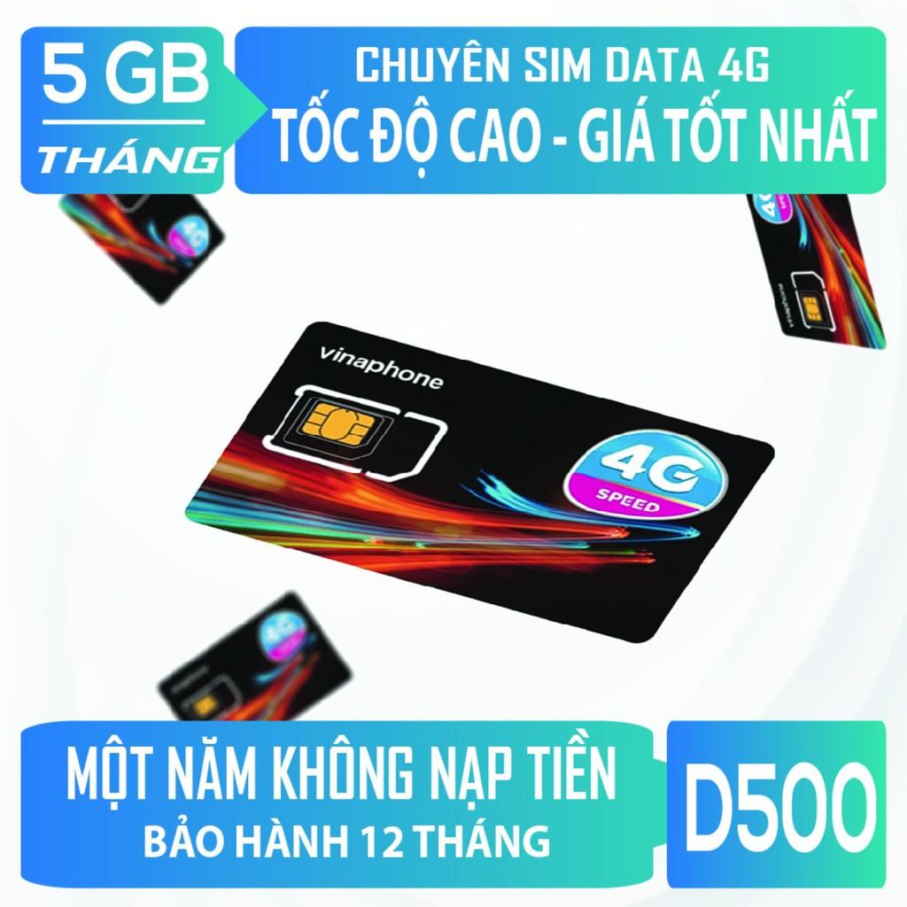 Sim 4G Vinaphone miễn phí 1 năm ko cần nạp tiền D500, VD149, D60G, VD89