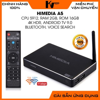 Android TV Box Himedia A5, chip S912, Ram 2GB - Rom 16GB, Rom ATV 9, Dual Wifi - Thanh lý