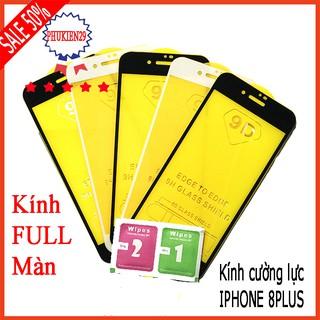 Kính cường lực IPHONE 8 PLUS full màn hình, Ảnh thực shop tự chụp, tặng kèm bộ giấy lau kính taiyoshop2 thumbnail