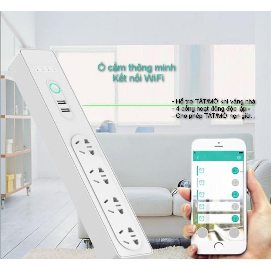 Ổ Cắm Điện Wifi Energreen - Hẹn Giờ Cho Riêng Từng Lỗ Cắm