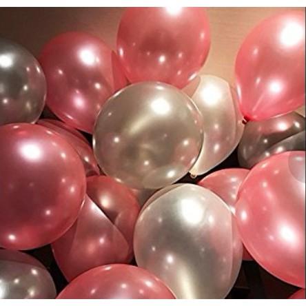 Bong bóng nhũ Thái Size 10''(25cm) bịch 25 cái Bóng trang trí sinh nhật Phụ kiện trang trí sinh nhật happy birthday
