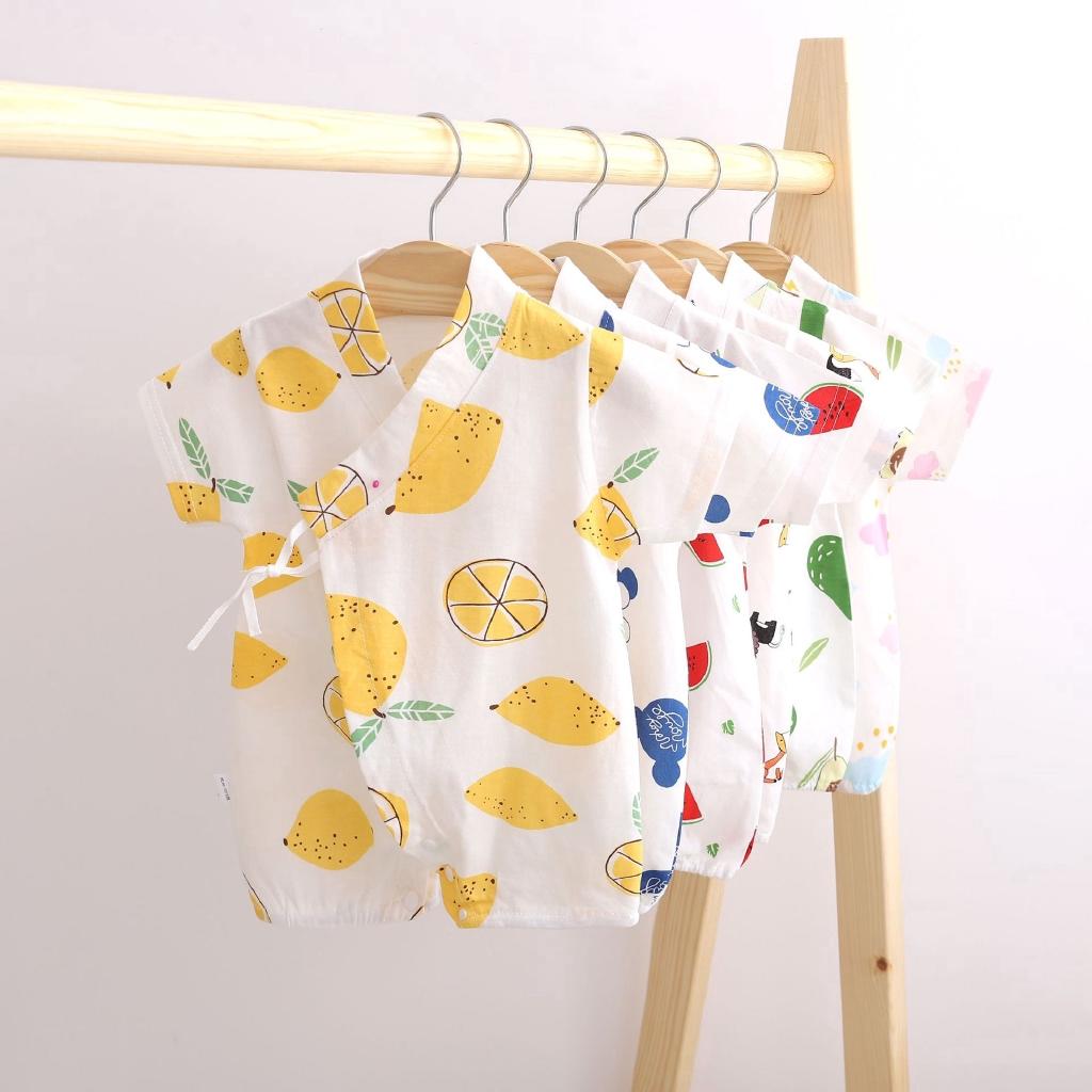 Áo liền quần ngắn bằng cotton kiểu kimono thời trang hè xinh xắn cho bé trai/gái