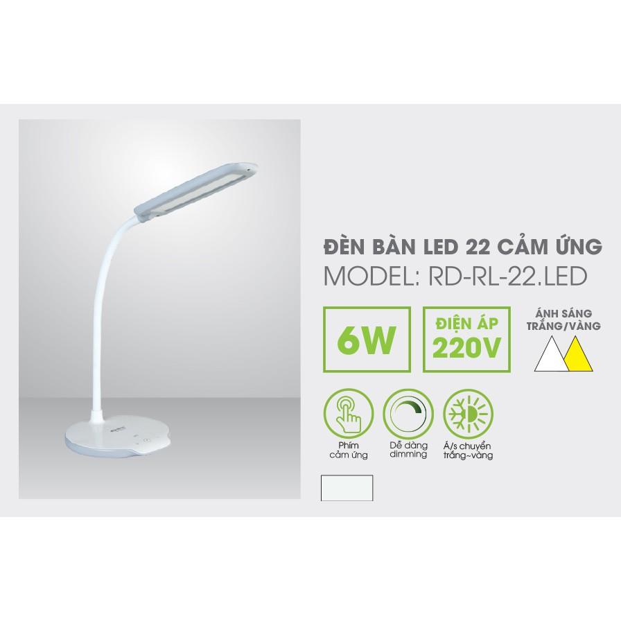 Đèn bàn học chống cận cảm ứng Rạng Đông 22 LED chống cận