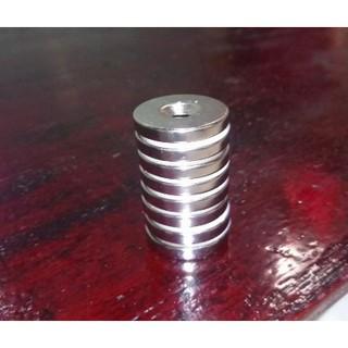 Bộ 8 viên nam Châm Đất Hiếm – Nam Châm Trắng Tròn (Loại Lớn) 30x5mm, Lỗ Vát 6mm