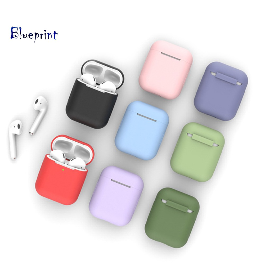 ☞BPSilicone Anti-shock Wireless Earphone Full Protective Cover Case for Airpods 1 2