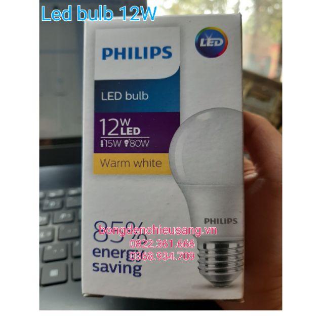 Bộ 3 bóng đèn Led Bulb 12W E27  Philip HV 1PF/20GMGC
