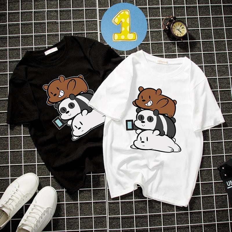 [Mã FAMAYWA giảm 10K đơn 50K] Album 8 - Bst áo thun unisex form rộng 3 con gấu dễ thương thời trang vải dày mịn