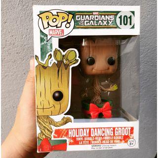 Mô hình Funko pop Groot dacing with red pot – Hàng chính hãng