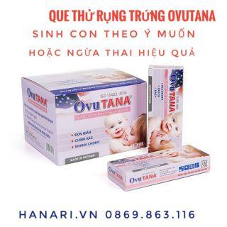 Que /test thử trứng rụng (rụng trứng) OVUTANA sinh con theo ý muốn chính xác nhất  - Hà Nội 1 que lẻ
