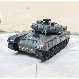 Đồ chơi xe tăng điều khiển bắn đạn nhựa T-90