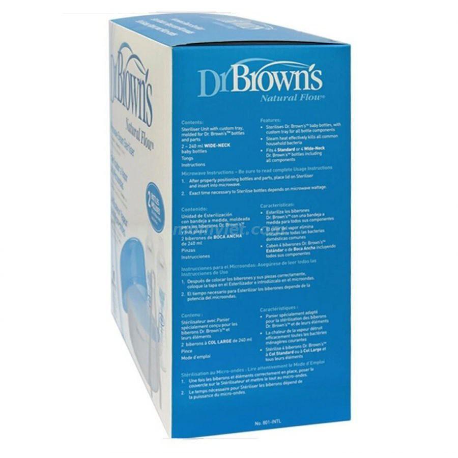 Hộp Tiệt Trùng Bình Sữa Dr.Brown 806 bằng lò vi sóng