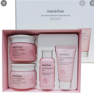 Set Innisfree Jeju Cherry Blossom Tone up Cream + Jelly Cream (full size) được tặng kèm 1 set mini 2 món thumbnail