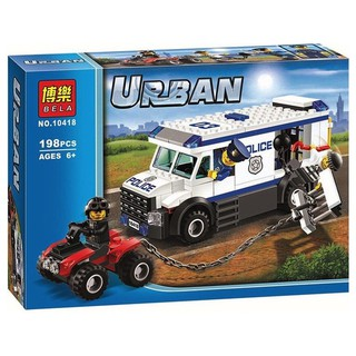 Xếp hình Urban City 198pcs – Vận chuyển tù nhân 10418
