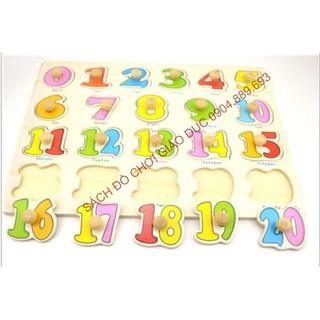 Bảng ghép hình có núm chủ đề các chữ số từ 0 đến 20 (Số 13) – Loại bảng dày đẹp